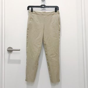 J Crew Chino Cropped Pants in Khaki